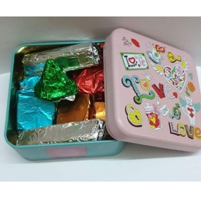 Assorted Chocolates In A Beautiful Tin Box