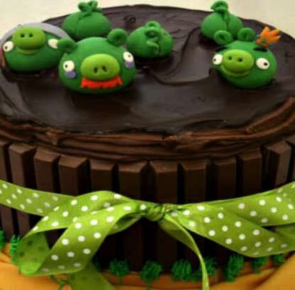 Order Angry Bird Theme Kit Kat Truffle Cake by chef Dee The Bakerr