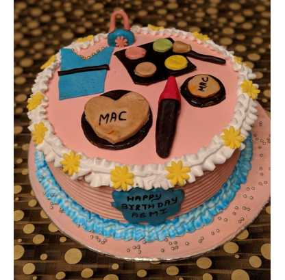 Order Makeup Cake For Girls by chef Home,fresh in Faridabad