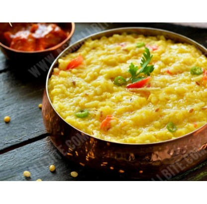 Dal Khichdi (moong) With Pickle & Papad