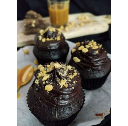 Chocolate Cupcakes With Salted Caramel - Egg