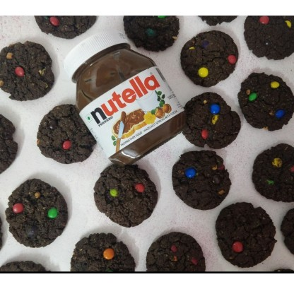 Nutella Monster Cookies With Oats And M&ms