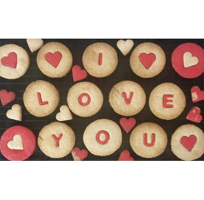 Valentine Special Cookies - Eggless