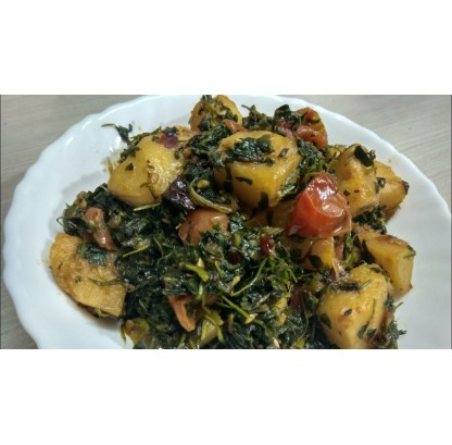 Aloo Methi Ki Sabzi (seasonal)