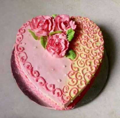 Valentine Double Flavoured Cake