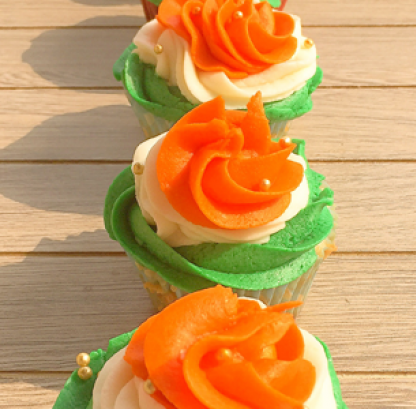Republic Day Cupcakes